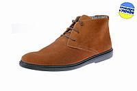 Мужские ботинки замшевые на текстильном подкладе floare 20933003 коричневые   весенние