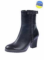 Женские сапоги кожаные mafia 3642/2 черные   весенние , фото 1