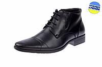 Мужские классические кожаные туфли intershoes 14o600 черные   весенние