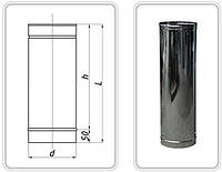 ТРУБА из нержавеющей стали AISI 304 -0,5 мм; L=1000 мм  ф110