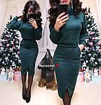 Женский костюм из ангоры: свитер и юбка с карманами (5 цветов), фото 2