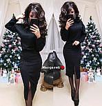 Женский костюм из ангоры: свитер и юбка с карманами (5 цветов), фото 4