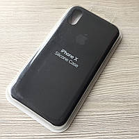 Черный Silicone Case для iphone Х/XS в упаковке
