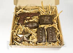 """Шоколадный набор """"Настоящему мужчине"""". Оригинальный подарок папе."""
