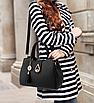 Сумка женская классическая Капелька черный, фото 4