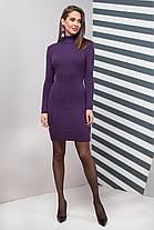 Базовое Платье вязаное шерстяное под горло теплое  размер 44-50, фото 3