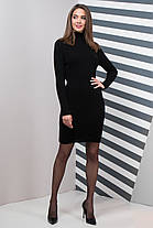 Базовое Платье вязаное шерстяное под горло теплое  размер 44-50, фото 2