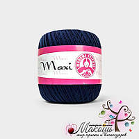 Пряжа Макси Maxi Madame Tricote, №4909, т. синий