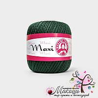 Пряжа Макси Maxi Madame Tricote, №4919, т. зеленый
