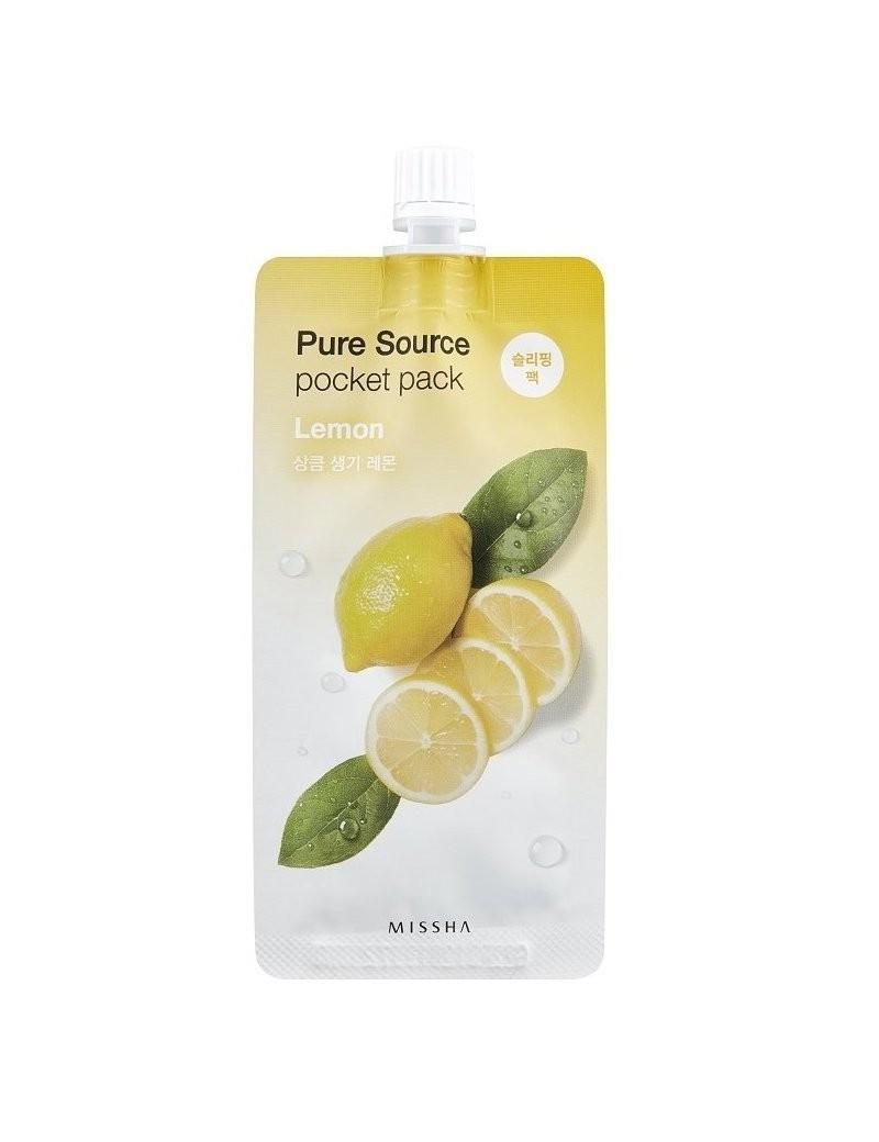 Энергетическая ночная маска с экстрактом лимона Missha Pure Source Pocket Pack Lemon 10 мл