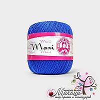 Пряжа Макси Maxi Madame Tricote, №6335, синий