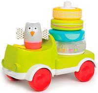 Развивающая машинка с пирамидкой - Совенок - Малыш, 2 в 1, Taf Toys (11945)