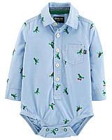 Детская боди-рубашка для мальчика Oshkosh  6-9, 9-12, 12-18, 18-24  месяца