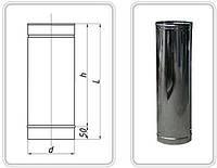 ТРУБА з нержавіючої сталі AISI 304 -0,5 мм; L=1000 мм ф140