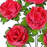Букет роз из атласа, 37см, фото 2