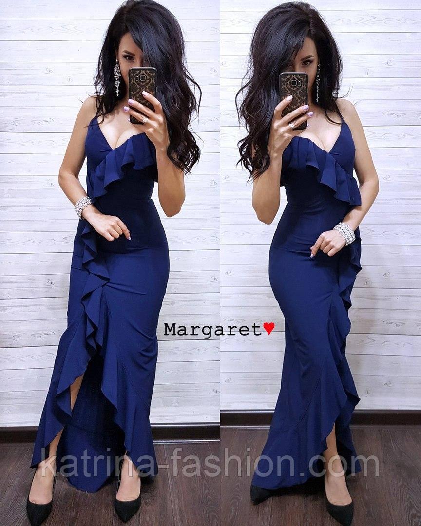 Женское изящное легкое платье с воланами (3 цвета)