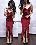 Женское изящное легкое платье с воланами (3 цвета), фото 7