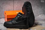 Мужские кроссовки Nike Air Force High (черные), фото 2