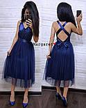 Женское нежное платье атлас и фатиновая юбка (4 цвета), фото 3
