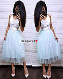 Женское нежное платье атлас и фатиновая юбка (4 цвета), фото 5