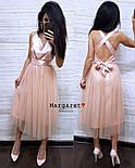 Женское нежное платье атлас и фатиновая юбка (4 цвета), фото 7