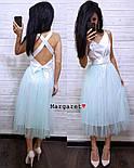 Женское нежное платье атлас и фатиновая юбка (4 цвета), фото 8