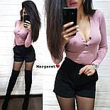 Женский костюм: кофточка и замшевые шорты (3 цвета), фото 3