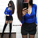 Женский костюм: кофточка и замшевые шорты (3 цвета), фото 4