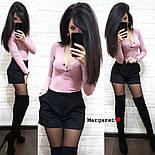 Женский костюм: кофточка и замшевые шорты (3 цвета), фото 6
