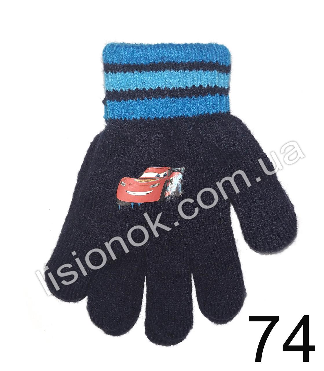 Демисезонные перчатки Disney тачки - молния Макквин 3-6 лет