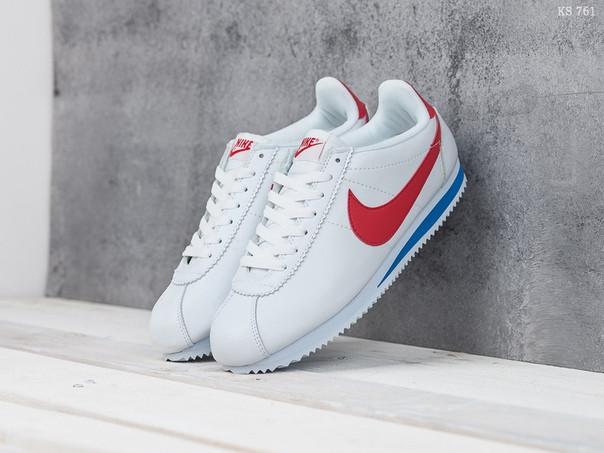 Мужские кроссовки Nike Cortez (бело/красные)