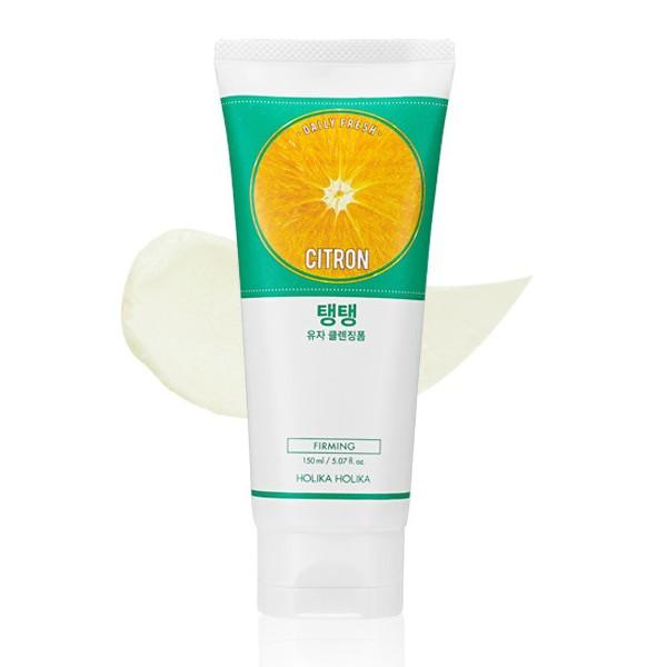 Пенка для умывания на основе фрукта цитрона Holika Holika Daily fresh cleansing citron cleansing foam  150 мл