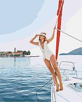 Картина по номерам Прогулка на яхте, 40x50 см