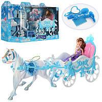 Карета 689Y с лошадью, 51см, кукла,22см, аксессуары, в кор-ке, 62,5-18,5-28см