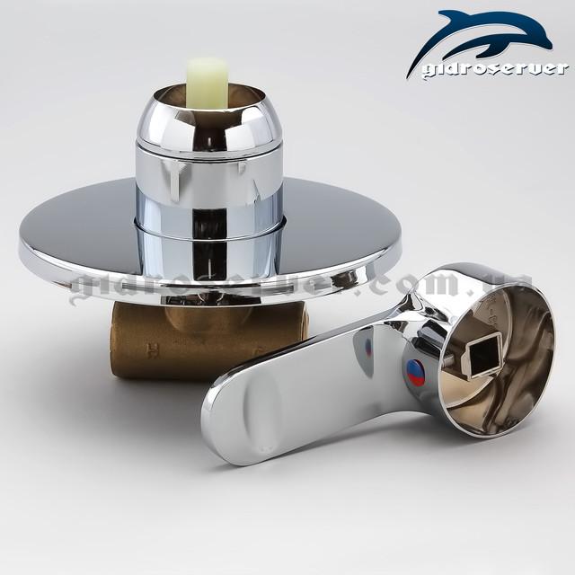 Змішувач для прихованого монтажу SV-01.1 використовується для комплектації гігієнічного душу, душових систем з одним діючим пристроєм функціоналу.