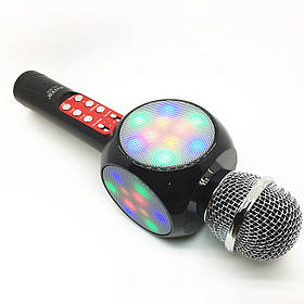 Беспроводной микрофон-караоке Bluetooth WS-1816 с подсветкой