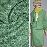 Рогожка вискозная с шерстью зеленая (19206.001)