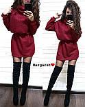 Женская теплая туника с люрексом и поясом в комплекте (6 цветов), фото 7