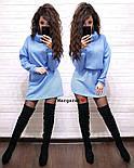 Женская теплая туника с люрексом и поясом в комплекте (6 цветов), фото 9