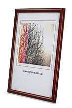 Рамка а4 из пластика - Красный тёмный - со стеклом