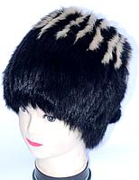 Зимова жіноча шапка з натурального хутра - класика