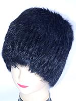 Жіноча модна шапка з хутра кролика темно-синій колір