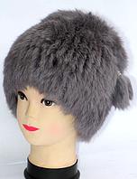 Тепла зимова жіноча хутрова шапка кубанка