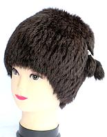 Жіноча шапка кубанка з натурального хутра темно-коричнева