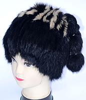 Жіноча молодіжна шапка кубанка з хутра кролика