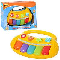 Игра 2007 NL пианино, муз, звуки животных, свет, желтый, на бат-ке, в кор-ке, 27-19,5-8см (BOC044936)
