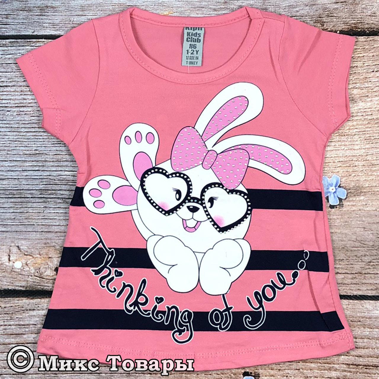 Детская футболка с зайчиком Размеры: 86,92,98,104 см (7690-1)