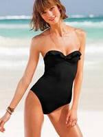 Купальник Victoria's Secret черный  Bandeau  Push Up (4A=XS)