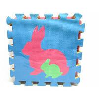 Коврик пазлы/мозаика для детей M 2738 EVA с рисунками животных