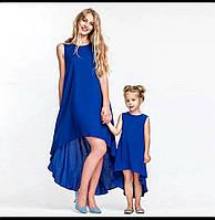 Пышное свободное платье для мамы и дочки